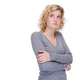 незадачливая женщина Стоковое фото RF