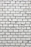 Незаконченная белая кирпичная стена Стоковое Фото
