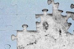 Незаконченная головоломка на угле Стоковое фото RF