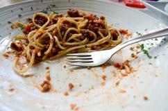 Незаконченная еда Стоковое Фото