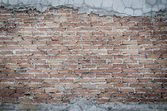 Незаконченная кирпичная стена штукатуря предпосылка с космосом экземпляра Und Стоковое Изображение RF