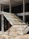 Незаконченная конкретная лестница Стоковое Фото