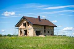 Незаконченная домашняя конструкция Стоковая Фотография