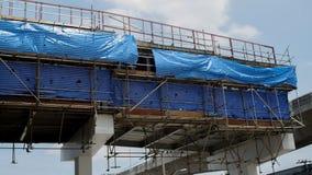 Незаконченный крест моста tollway стоковая фотография rf