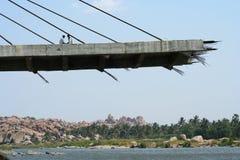 Незаконченный мост Стоковое Изображение