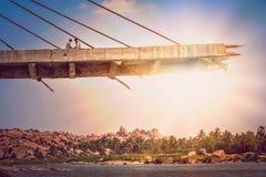 Незаконченный мост Стоковые Фото
