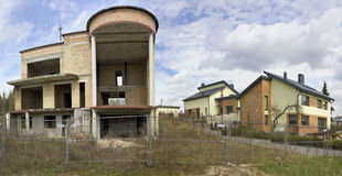 Незаконченный покинутый дворец кирпича гангстера Стоковые Фото