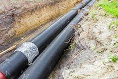 Незаконченный трубопровод стоковое фото rf