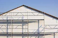 Незаконченный фасад дома стоковые изображения rf