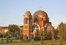 Незаконченный Христос собор спасителя в Pristina, Косове стоковые изображения rf