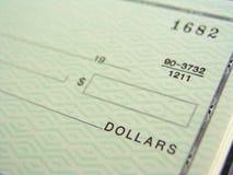 незаполненный чек Стоковое Изображение RF