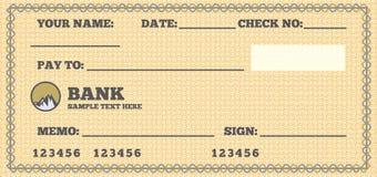 Незаполненный чек Стоковое Изображение