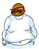 Нездоровая еда и тучность иллюстрация штока