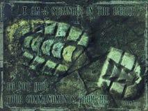 незнакомец предпосылки i вероисповедный Стоковое Изображение RF