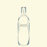Незримая геометрия от структуры бутылки Стоковое Изображение RF