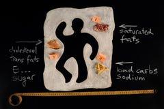 Нездоровая опасность еды осведомленность Стоковая Фотография