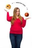 нездоровое еды здоровое Стоковые Фотографии RF