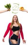 нездоровое еды здоровое Стоковое Фото