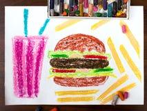 Нездоровые еда и питье иллюстрация вектора