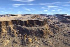 Неизвестная планета Горы Стоковые Фото