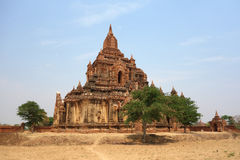 Неизвестный висок в Bagan стоковое изображение