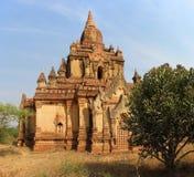 Неизвестный висок в Bagan стоковые изображения