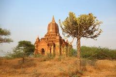 Неизвестный висок в Bagan стоковые фотографии rf