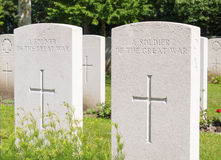 Неизвестный солдат большой войны WW1 Стоковое фото RF
