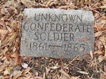 Неизвестный солдат confederate стоковые фотографии rf