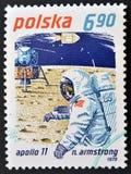 Неил Армстронг и Аполлон 11 Стоковое Изображение