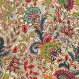 Неимоверная картина цветка цвета Пестротканая яркая флористическая предпосылка Винтажная безшовная картина в стиле Провансали Стоковое Изображение