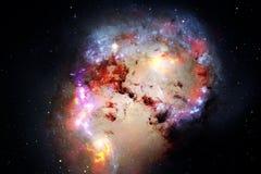 Неимоверно красивая галактика где-то в глубоком космосе E стоковое фото rf