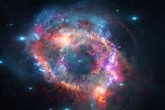 Неимоверно красивая галактика где-то в глубоком космосе E стоковая фотография