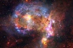 Неимоверно красивая галактика где-то в глубоком космосе E стоковые изображения