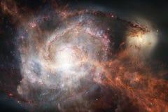 Неимоверно красивая галактика где-то в глубоком космосе E бесплатная иллюстрация
