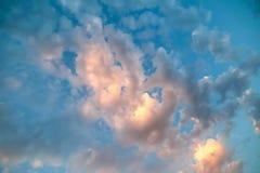 Неимоверно красивый заход солнца, облака на заходе солнца, красочном заходе солнца Стоковое Фото