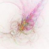 Неимоверно плотное Superparticle ударяя звезду белого карлика и взрывая с цветом | Искусство фрактали Стоковые Изображения RF
