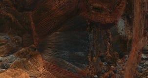 Неимоверный взгляд сверху красоты на работая карьере Дорога на Марсе видеоматериал