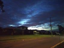 Неимоверный заход солнца в Брисбене Австралии стоковая фотография