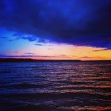 неимоверный заход солнца Стоковые Фотографии RF