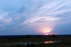 неимоверный заход солнца Стоковые Изображения RF