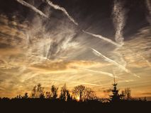 Неимоверный заход солнца Стоковое фото RF