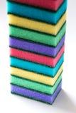 Неиспользованные красочные губки для моя блюд Стоковые Фотографии RF