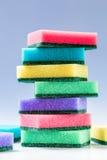 Неиспользованные красочные губки для моя блюд Стоковая Фотография