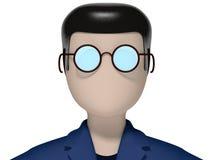 нейтральная голова значка 3D Стоковая Фотография