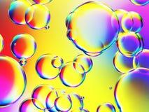 некоторая красочная предпосылка пузырей Стоковая Фотография RF