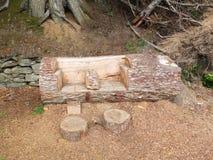 Некоторое резное изображение сада от ствола дерева в форме места Стоковые Изображения RF