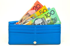 Деньги в бумажнике Стоковые Изображения