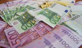 Некоторые банкноты евро Стоковое фото RF