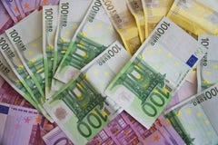 Некоторые банкноты евро Стоковые Изображения RF